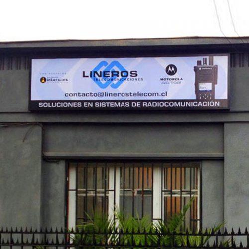 Letrero fachada Lineros