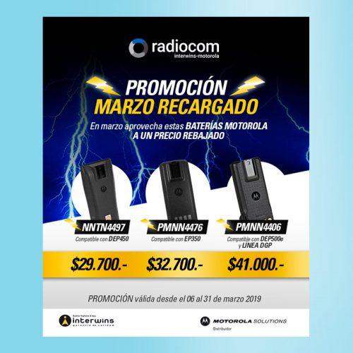 Campaña Marzo Recargado Radiocom Chile