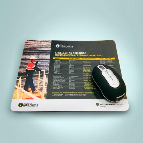 Mousepad + Mouse Inalámbrico Interwins