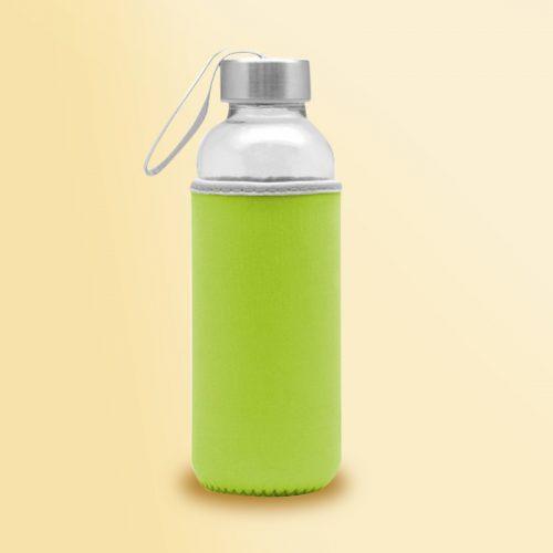 Botella vidrio con funda